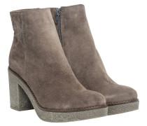 Stiefel aus Leder in Grau