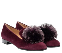 Loafer aus Leder in Bordeaux/Rosa/Rot/Violett