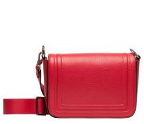Schultertasche aus Leder in Rot