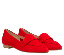 Loafer aus Leder in Hellrot/Rot