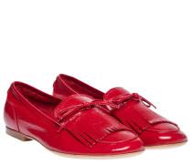 Mokassin aus Leder in Rot