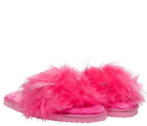 Slipper aus Synthetik in Pink/Rosa/Violett
