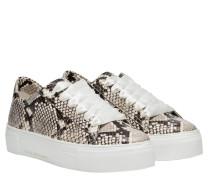 Sneaker aus Leder in Snake/Grau/Schwarz