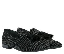 Loafer aus Leder in Grau