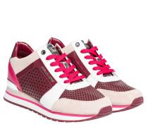 Sneaker aus Leder in Fuchsia/Violett/Rosa
