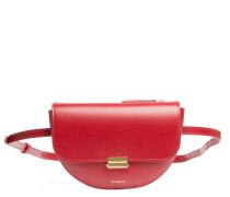 Handtasche aus Leder in Rot