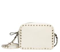 Handtasche aus Leder in Wollweiß/Weiß