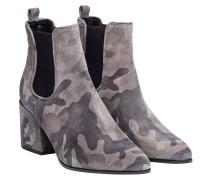 Stiefel aus Leder in Schwarz/Grau