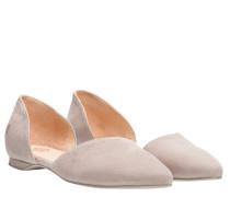 Ballerina aus Leder in Taupe/Schlamm/Braun/Grau