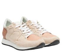 Sneaker aus Leder in Nude/Beige/Weiß/Rosa