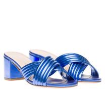 Sandalen aus Leder in Royalblau/Blau