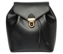 Rucksack aus Leder in Schwarz