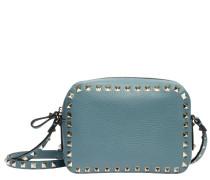 Handtasche aus Leder in Indigo/Jeans/Blau