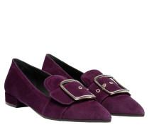 Loafer aus Leder in Lila/Violett
