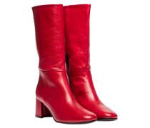 Stiefel aus Leder in Rot