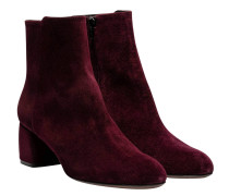 Stiefel aus Leder in Aubergine/Violett/Rosa/Braun