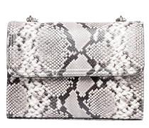 Handtasche aus Leder in Snake/Grau/Schwarz