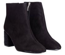 Stiefel aus Textilstoff in Schwarz