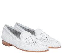 Loafer aus Leder in Weiß