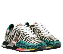 Sneaker aus Leder in Dunkelgrün/Grün
