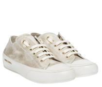 Sneaker aus Leder in Gold/Gelb