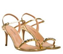 Sandalen aus Leder in Gold/Gelb