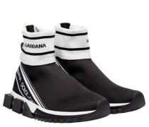 Sneaker aus Gummi in Schwarz/Weiß