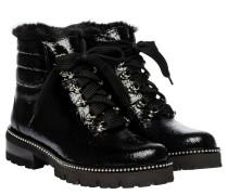 Stiefellette aus Leder in Schwarz