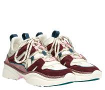 Sneaker aus Leder in Hellgrau/Grau
