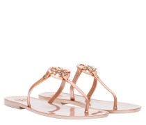 Sandalen aus Gummi in Bronze/Braun/Grau/Orange