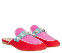 Mules aus Leder in Pink/Rosa/Violett