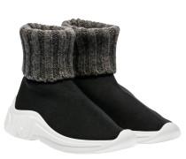 Sneaker aus Leder in Schwarz