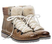 Stiefel aus Leder in Hellbraun/Braun