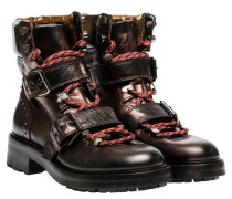 Stiefel aus Leder in Bronze/Braun/Grau/Orange