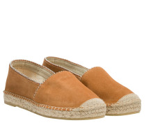 Espadrilles aus Leder in Cognac/Braun/Orange