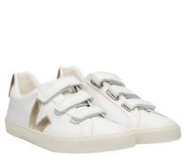 Sneaker aus Leder in Perlmuttweiß/Weiß
