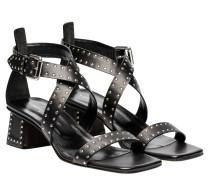 Sandalen aus Leder in Schwarz