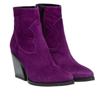 Stiefel aus Leder in Violett