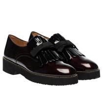 Loafer aus Leder in Bordeaux/Rosa/Rot/Violett