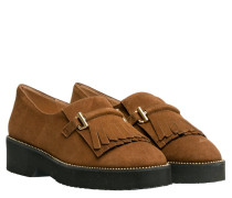 Loafer aus Leder in Braun