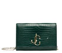 Handtasche aus Leder in Dunkelgrün/Grün