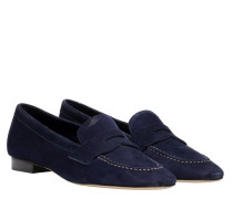 Loafer aus Leder in Blau