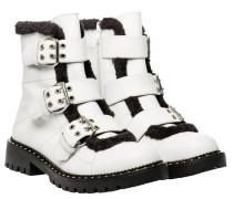 Stiefel aus Leder in Weiß