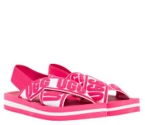 Sandalen aus Gummi in Pink/Rosa/Violett