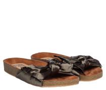 Sandalen aus Gummi in Khaki/Grün
