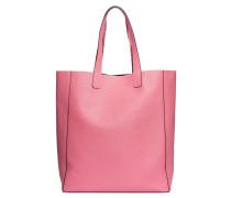 Handtasche aus Leder in Fuchsia/Violett/Rosa