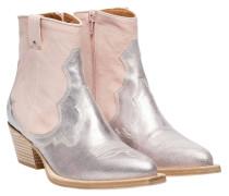 Stiefel aus Leder in Rosa