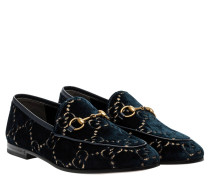 Loafer aus Leder in Nachtblau/Blau