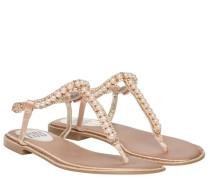 Sandalen aus Leder in Sand/Braun/Beige