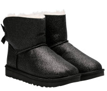 Stiefel aus Synthetik in Schwarz